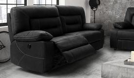Canapé tissu relaxation 3 places électrique - Adana
