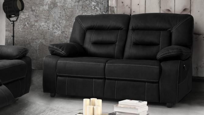 Canapé électrique relax tissu 2 places - Adana