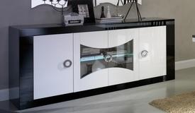Bahut moderne 4 portes avec LEDs - Nevis