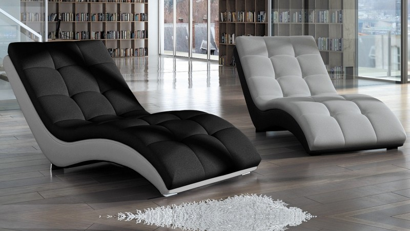 fauteuil de relaxation capitonn tissu et simili cuir kan. Black Bedroom Furniture Sets. Home Design Ideas