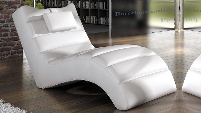Chaise longue relax fauteuil simili cuir matelé Huw - GdeGdesign on chaise en bois, chaise lounge, chaise en transparent, chaise longue,