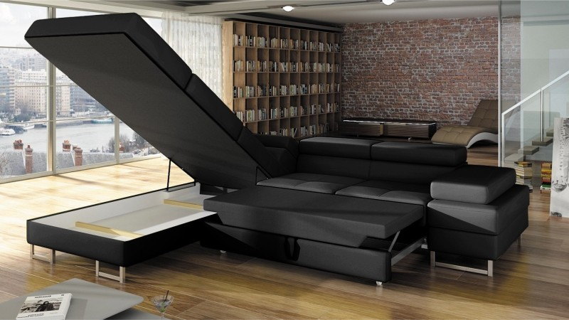 canap d 39 angle design convertible fedor en simili cuir. Black Bedroom Furniture Sets. Home Design Ideas