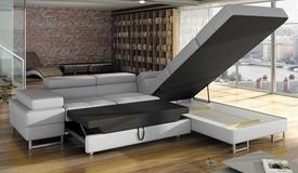 Canapé d'angle simili cuir convertible - Fedor