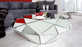 Table basse moderne miroir diamant - Tove