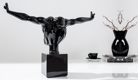 Petite statue athlète décorative noire - Hudson