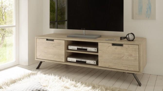 Meuble TV design 2 portes bois - Vram