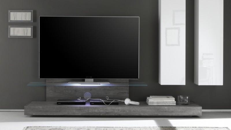 ensemble meuble tv design led bois et laqu blanc upton gdegdesign. Black Bedroom Furniture Sets. Home Design Ideas