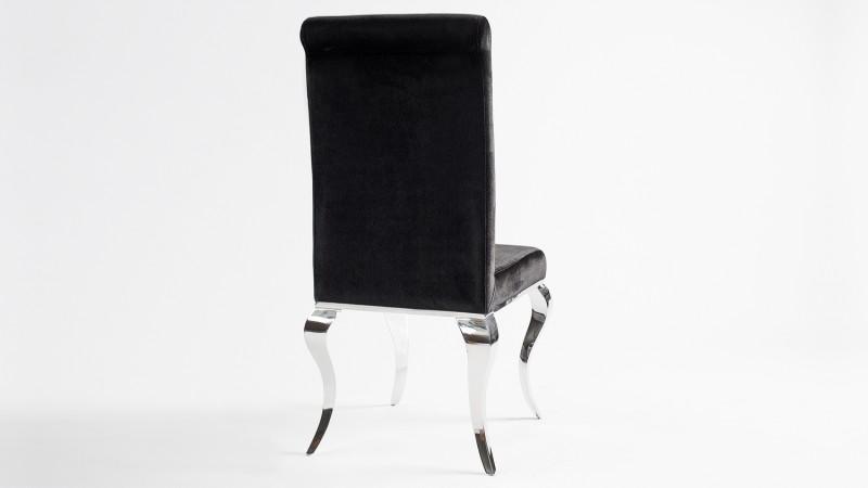 Chromés Pieds Gdegdesign Noir Baroque Et Velours Zita Moderne Chaise nX0O8Pkw
