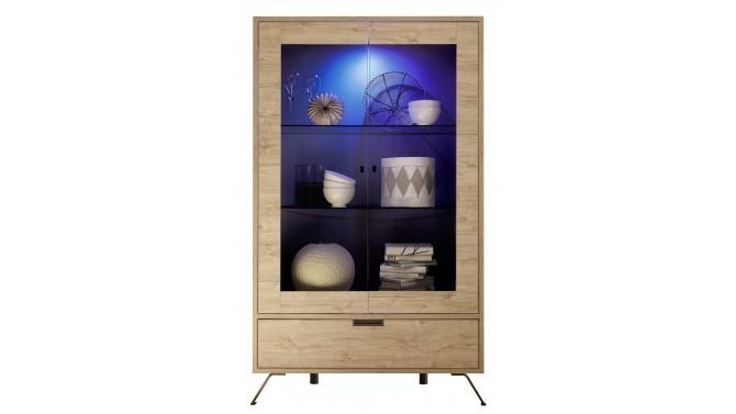Vitrine lumineuse design en bois - Vram