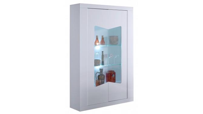 Vitrine design 2 portes avec LED - Orson