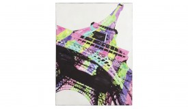 Peinture design multicolore Tour Eiffel - Paris