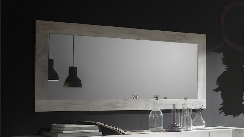 Miroir rectangulaire 170 cm couleur bois de pin hazel for Tableau miroir design