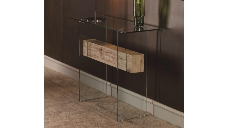 console verre et bois design transparente diana gdegdesign. Black Bedroom Furniture Sets. Home Design Ideas