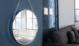 Miroir design rond suspendu - Hawick