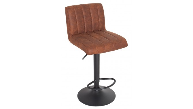 tabouret de bar r tro microfibre marron cuir vieilli noto. Black Bedroom Furniture Sets. Home Design Ideas