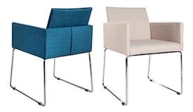Chaise design tissu avec accoudoirs - Palmyr