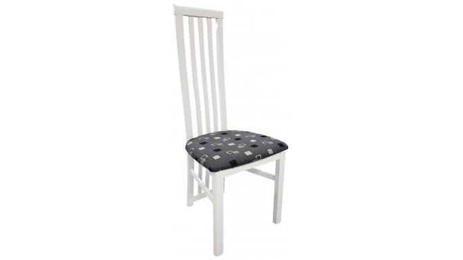 Chaise laquée blanche en tissu - Orson