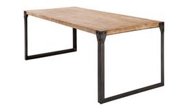 Table à manger industrielle bois et métal - Jorg