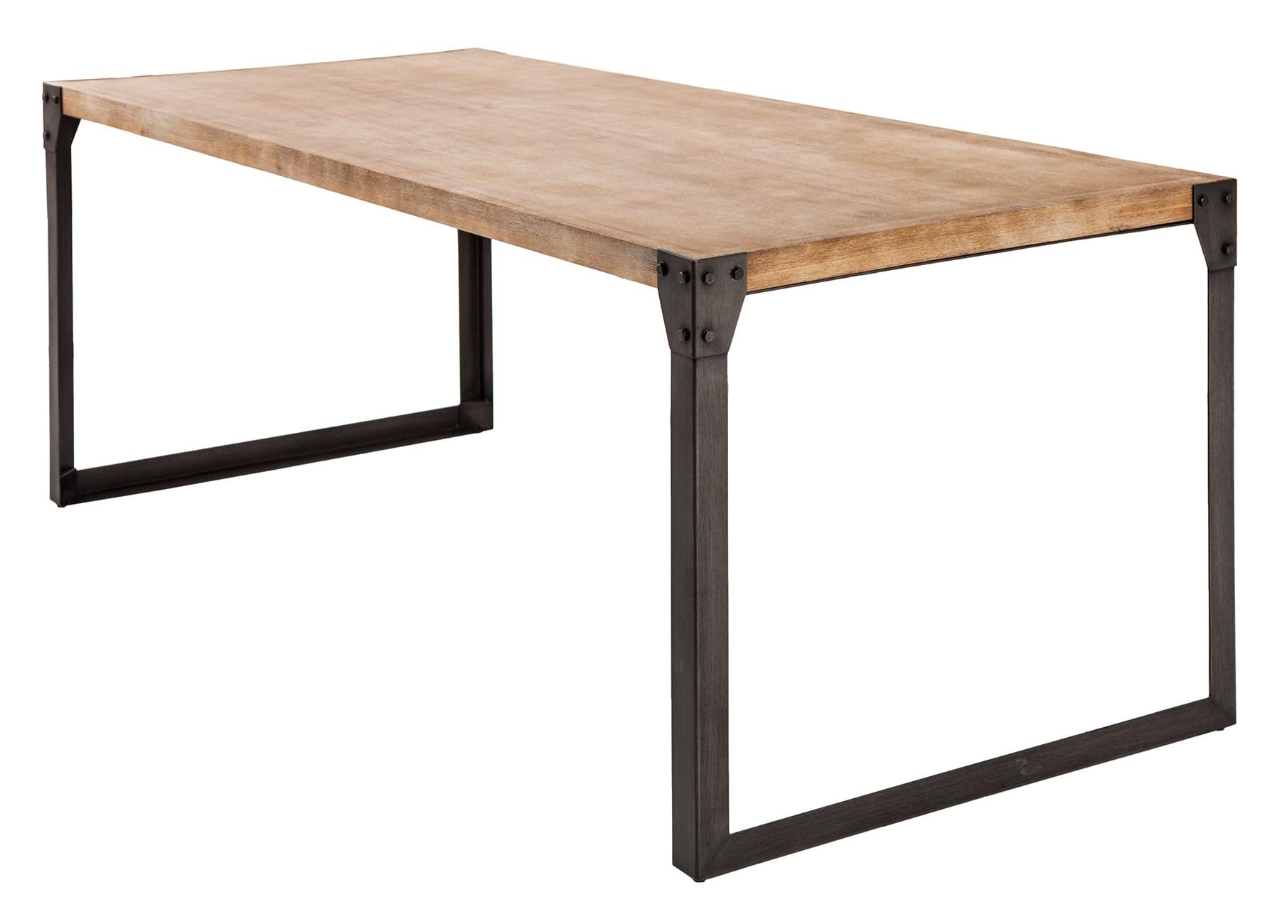 Table A Manger Originale table de salle à manger industrielle bois et métal jorg