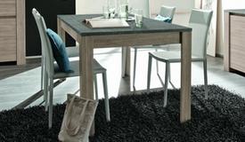 Table de salle à manger bois plateau ardoise - Aspar
