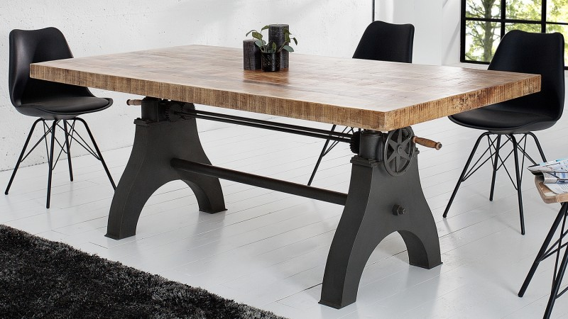 table manger rectangulaire industriel bois massif taylor gdegdesign. Black Bedroom Furniture Sets. Home Design Ideas