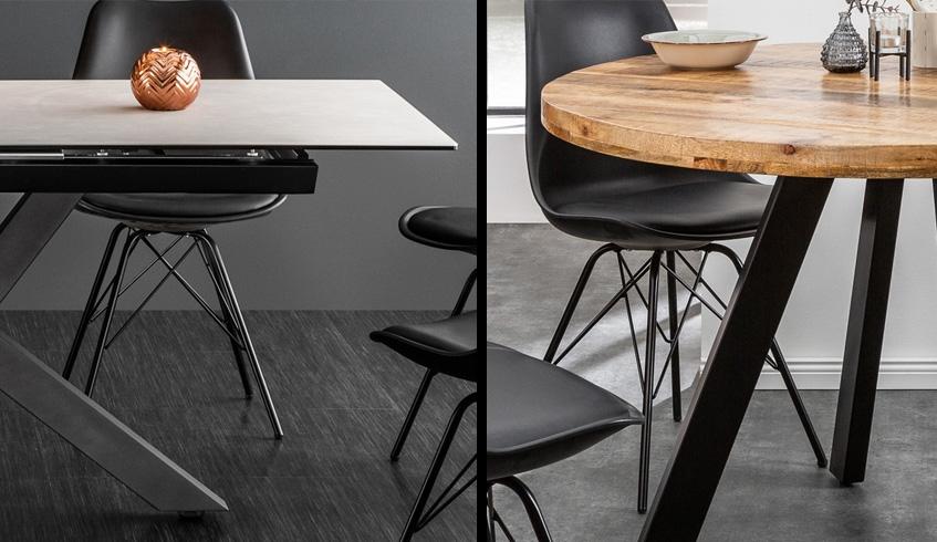 Table à manger ronde ou rectangulaire