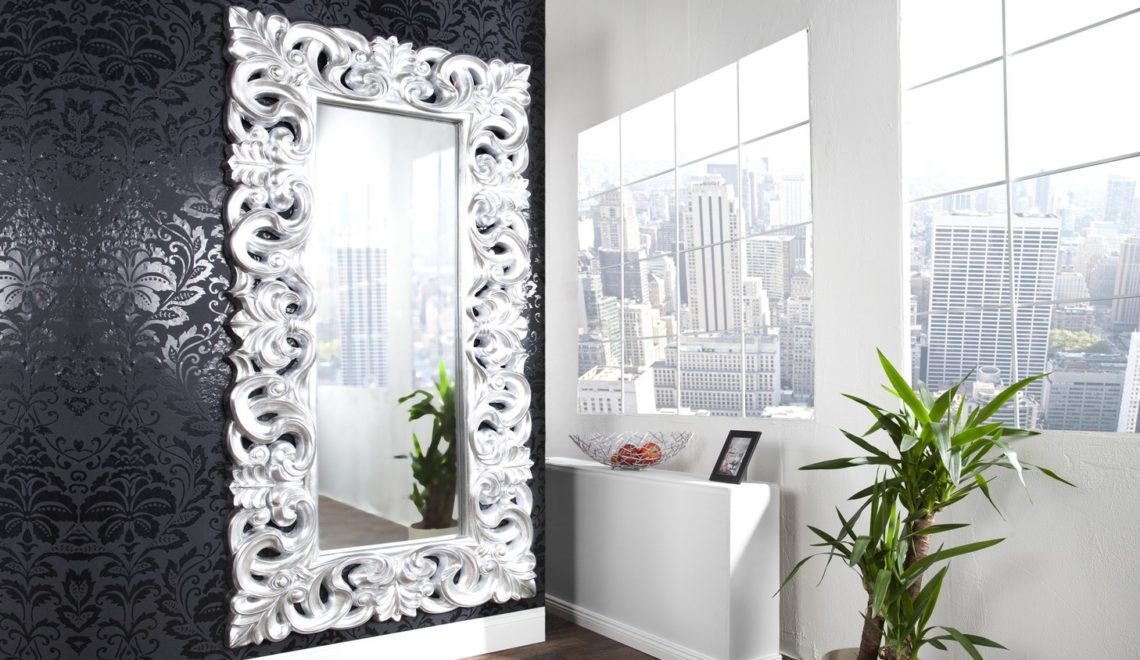 Grand miroir baroque rectangulaire - Chester