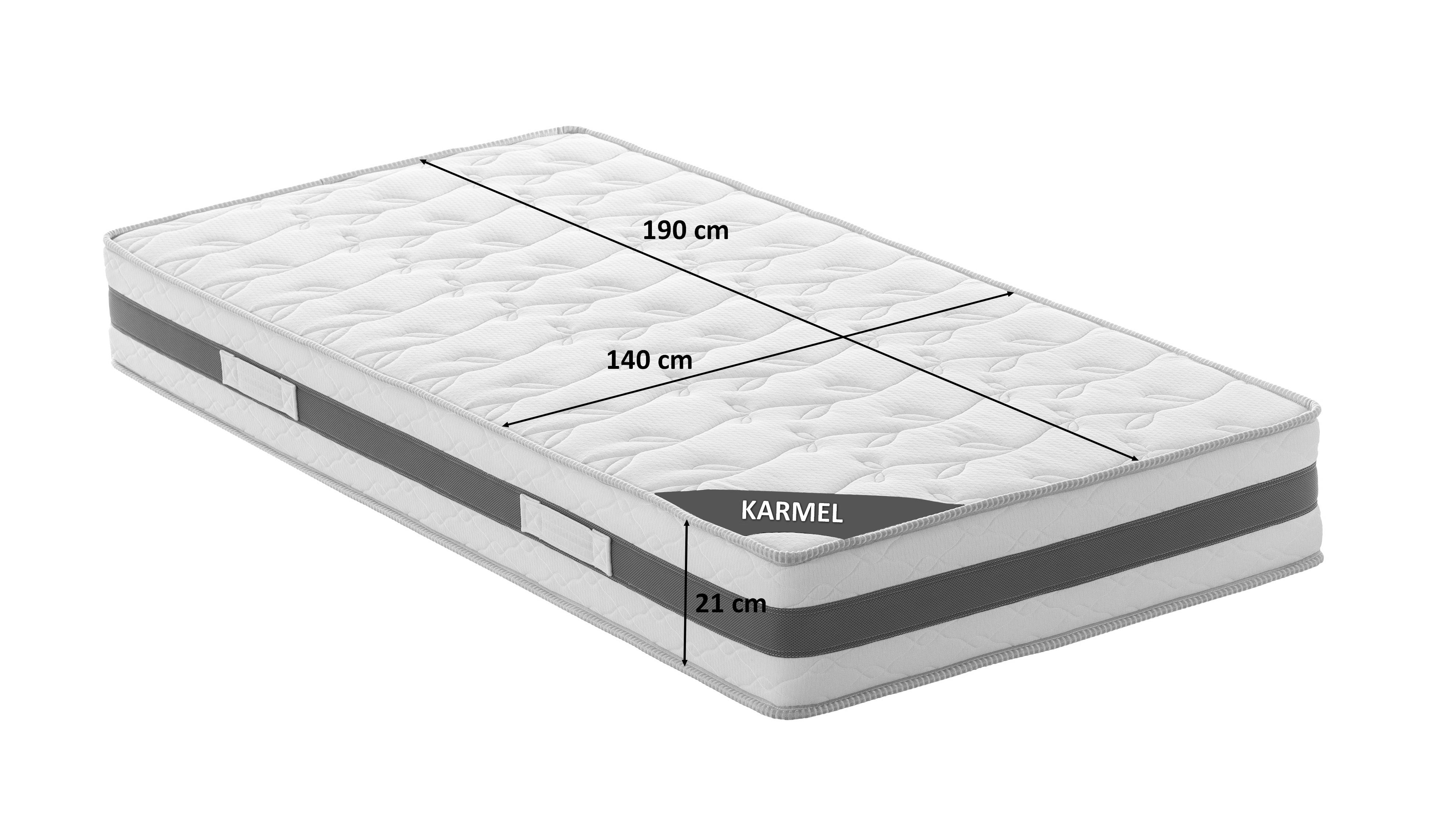 matelas 140x190 cm avec mousse m moire de forme karmel gdegdesign. Black Bedroom Furniture Sets. Home Design Ideas