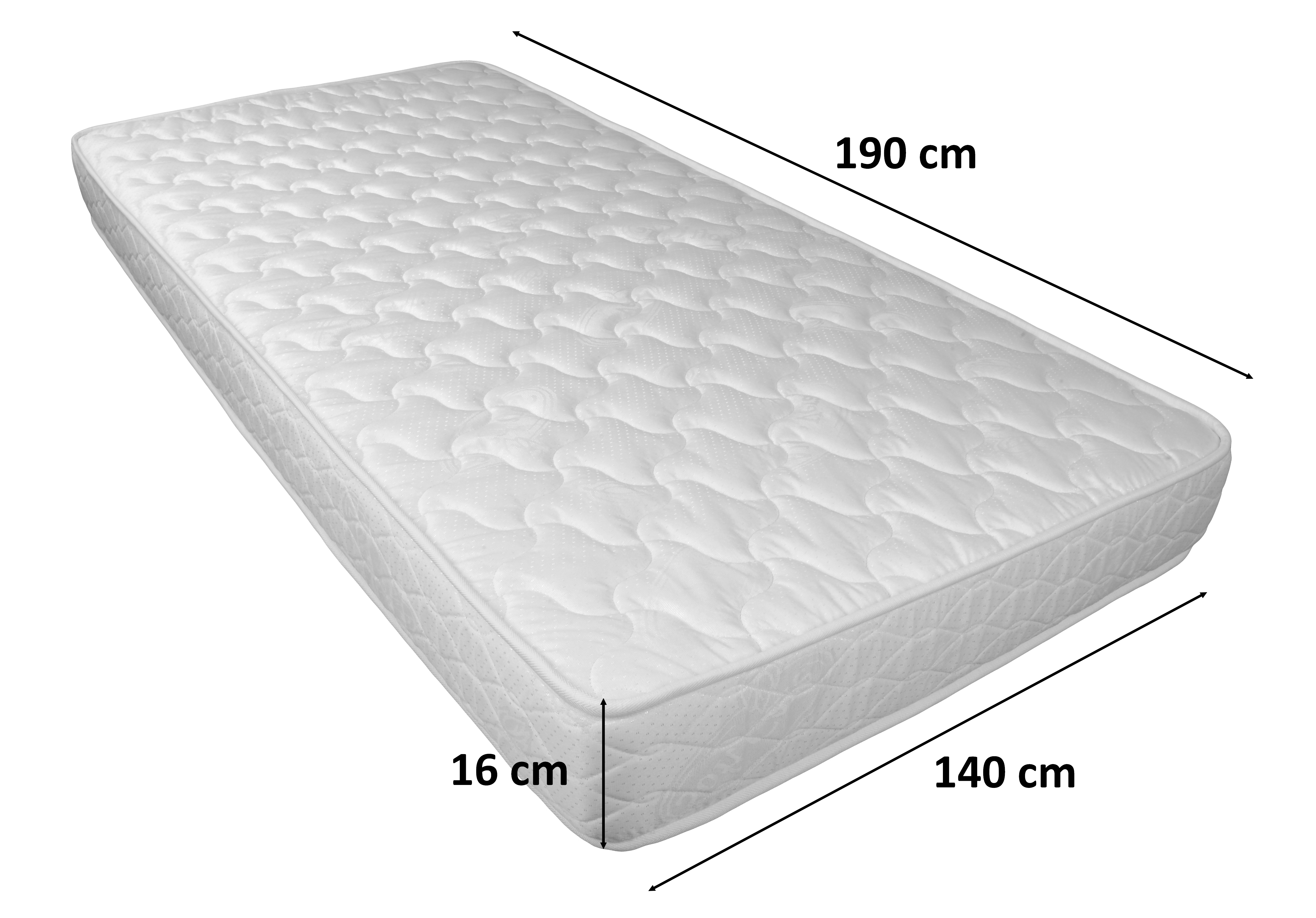 matelas 140x190 cm en mousse tout confort pas cher knut gdegdesign. Black Bedroom Furniture Sets. Home Design Ideas