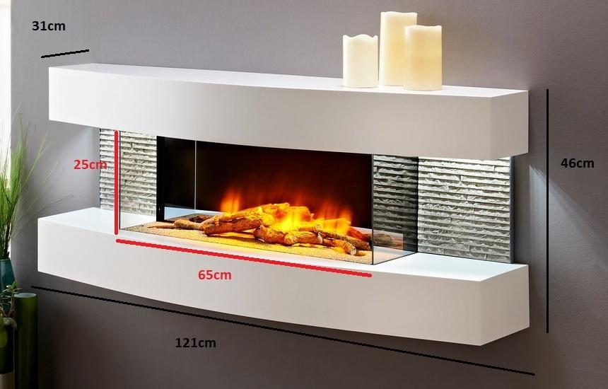 Cheminee Decorative Electrique En Bois Laque Blanc Lounge Gdegdesign